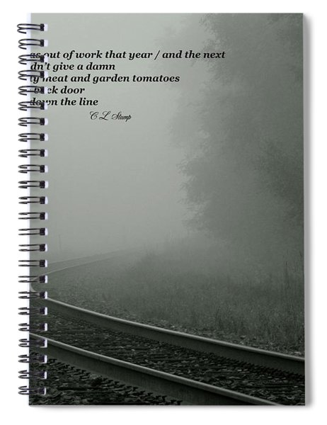Down The Line Spiral Notebook