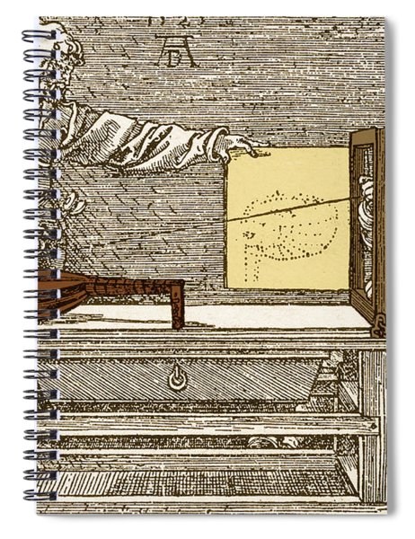Durers Perspective Drawing Of A Lute Spiral Notebook