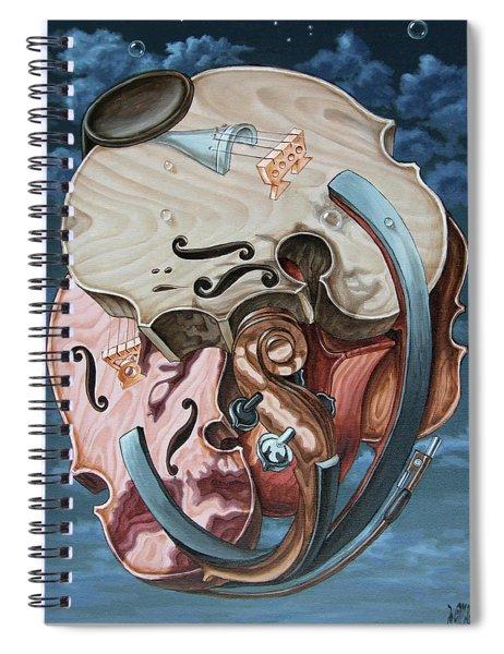 Einstein's Violin Spiral Notebook