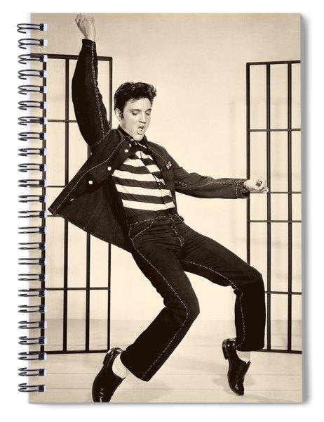 Elvis Presley In Jailhouse Rock 1957 Spiral Notebook
