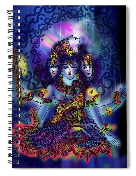 Enlightened Shiva Spiral Notebook
