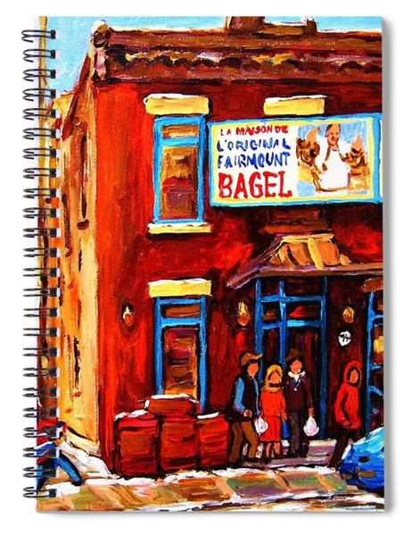 Fairmount Bagel In Winter Spiral Notebook