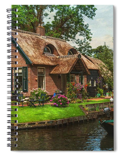 Fairytale House. Giethoorn. Venice Of The North Spiral Notebook