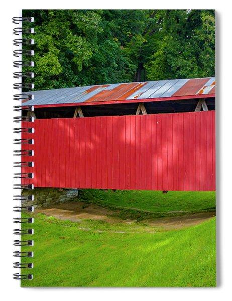 Feedwire Covered Bridge - Carillon Park Dayton Ohio Spiral Notebook