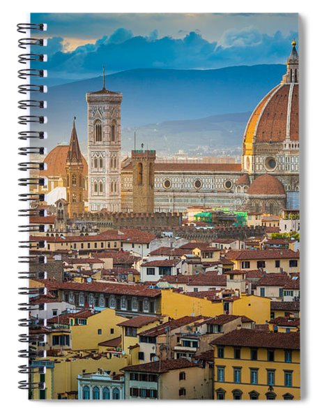Spiral Notebook featuring the photograph Firenze Duomo by Inge Johnsson