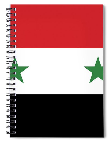 Flag Of Syria  Spiral Notebook