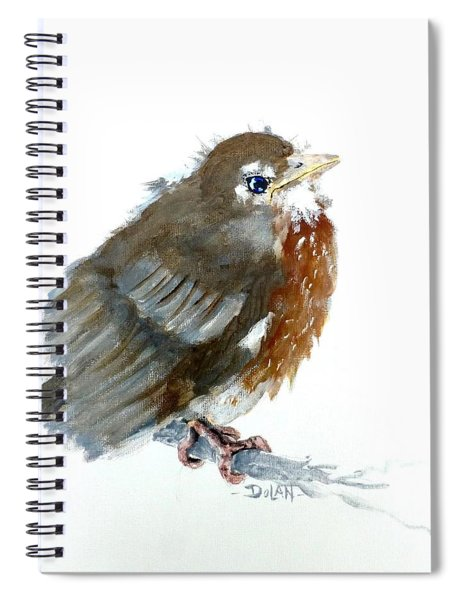 Fledgling Robin Spiral Notebook