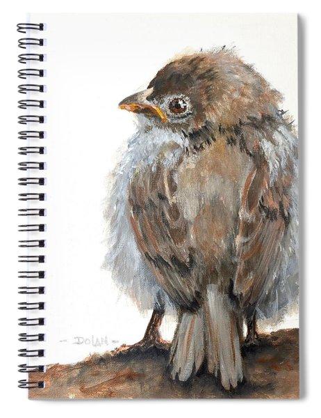 Fledgling Sparrow Spiral Notebook