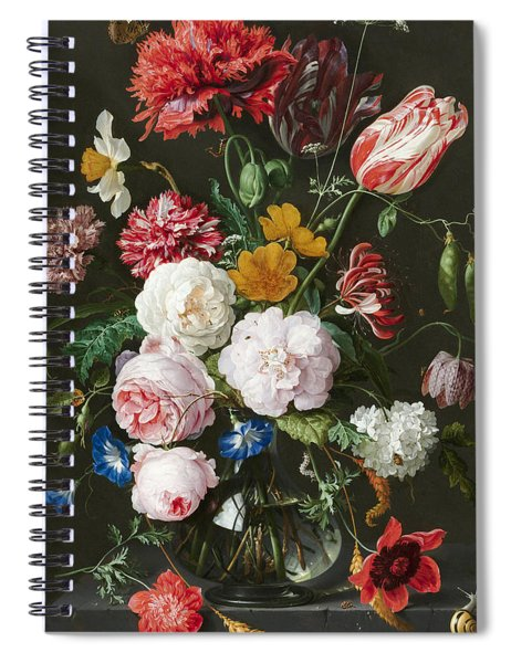 Flowers In A Glass Vase 3 Spiral Notebook