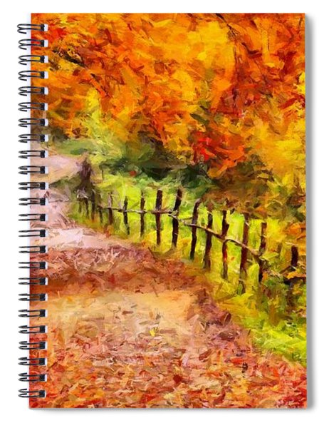 Fall Foliage Path 2 Spiral Notebook