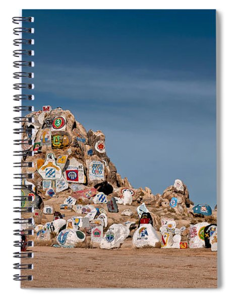 Spiral Notebook featuring the photograph Fort Irwin by Jim Thompson