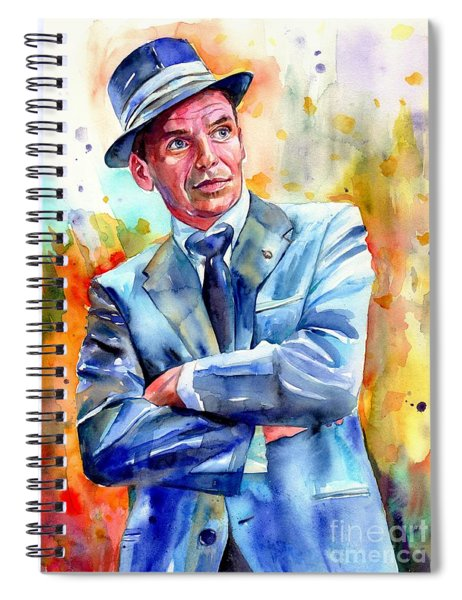 Frank Sinatra Young Painting Spiral Notebook