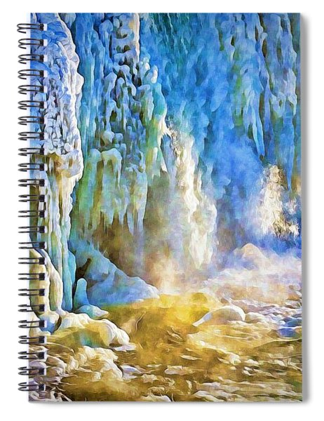 Frozen Waterfall Spiral Notebook