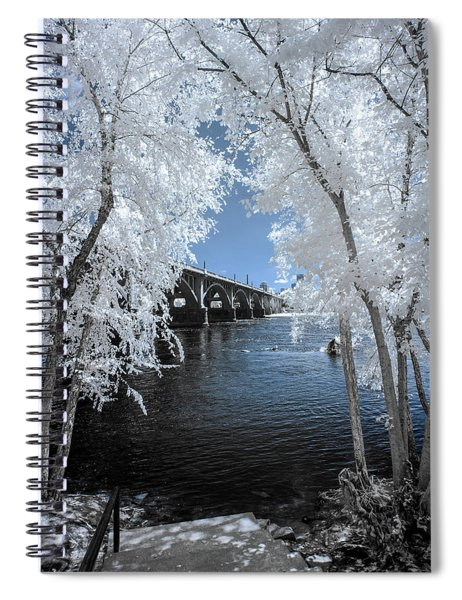 Gervais St. Bridge In Surreal Light Spiral Notebook