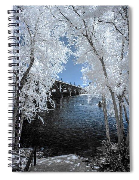 Gervais St. Bridge In Surreal Light Spiral Notebook