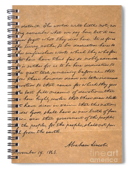 Gettysburg Address Spiral Notebook