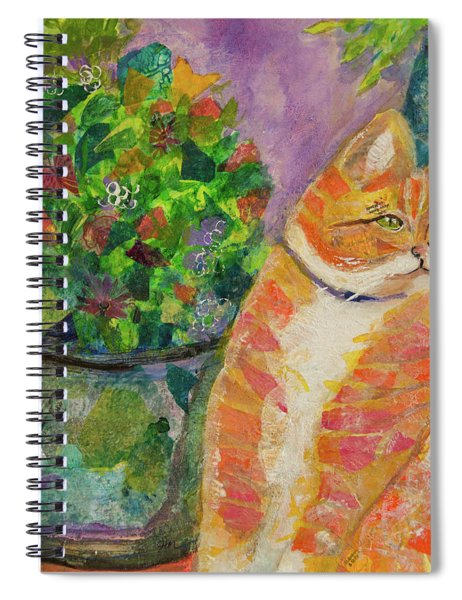 Ginger With Flowers Spiral Notebook