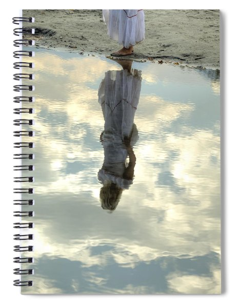 Girl And The Sky Spiral Notebook