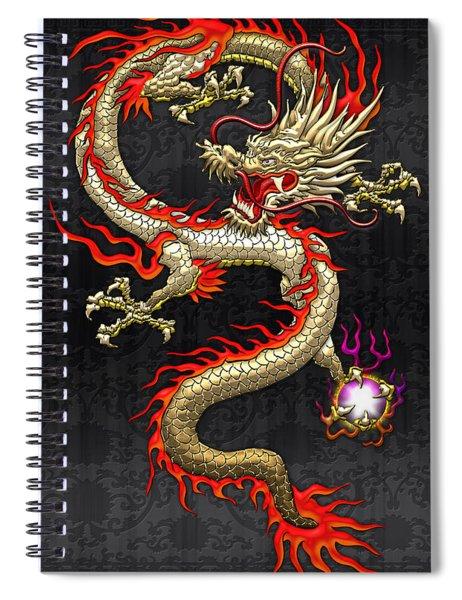 Golden Chinese Dragon Fucanglong  Spiral Notebook