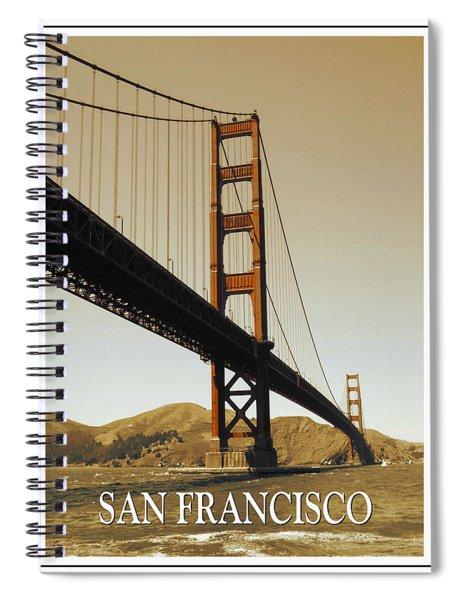 Golden Gate Bridge San Francisco Poster Spiral Notebook