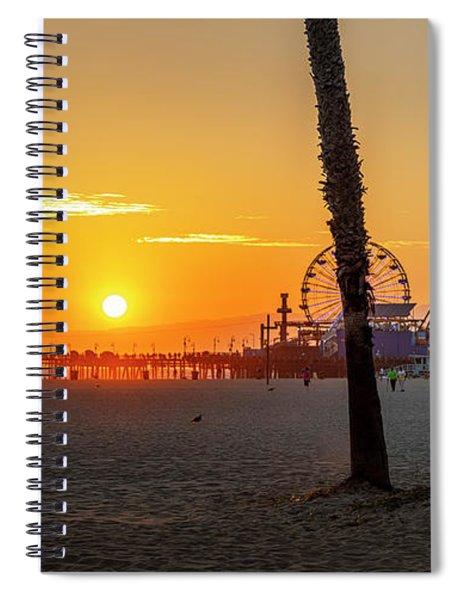 Golden Glow At Sunset Spiral Notebook