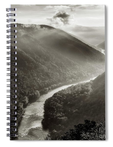 Grandview In Black And White Spiral Notebook