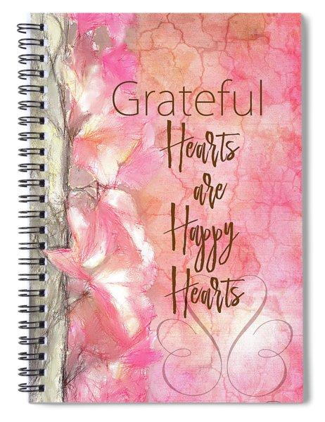Grateful Hearts Spiral Notebook