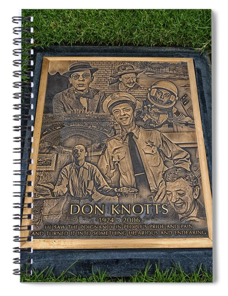 Gravesite Of Don Knotts - Westwood Cemetery Spiral Notebook