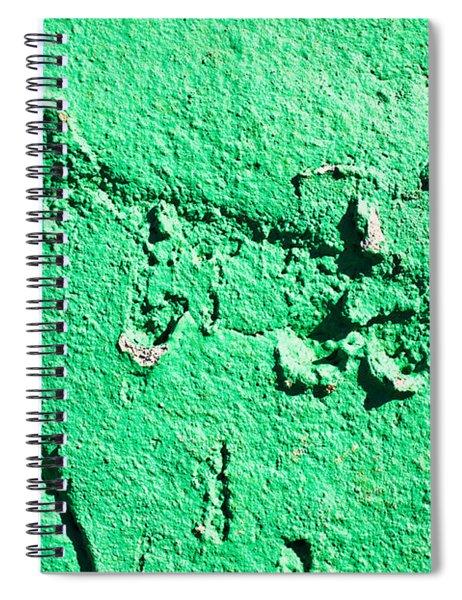 Green Background Spiral Notebook