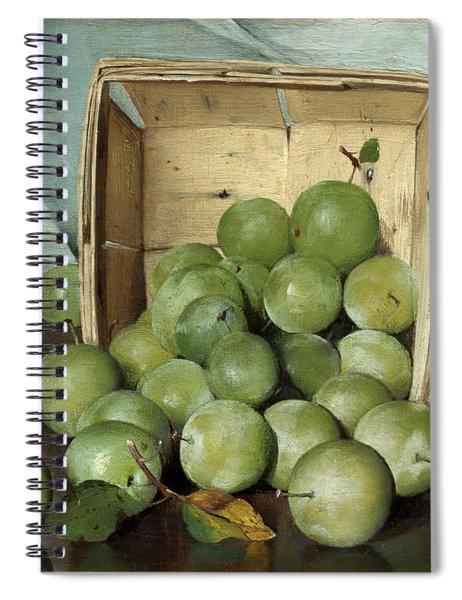 Green Plums Spiral Notebook