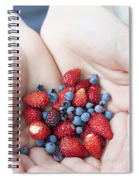Hands Holding Berries Spiral Notebook