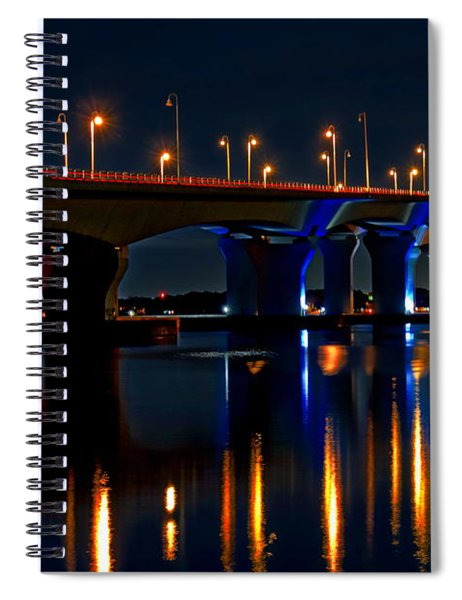 Hathaway Bridge At Night Spiral Notebook