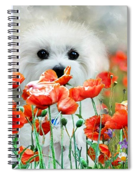 Hermes And Poppies Spiral Notebook