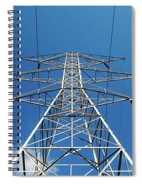 High Voltage Power Lines Spiral Notebook
