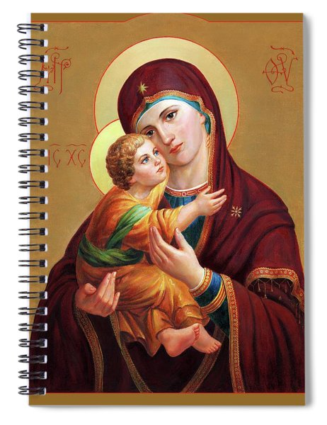 Holy Mother Of God - Blessed Virgin Mary Spiral Notebook