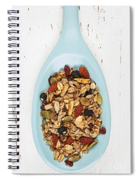 Homemade Granola In Spoon Spiral Notebook