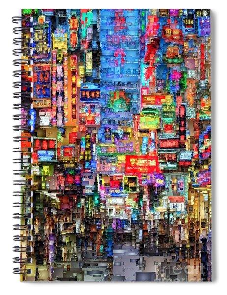 Hong Kong City Nightlife Spiral Notebook