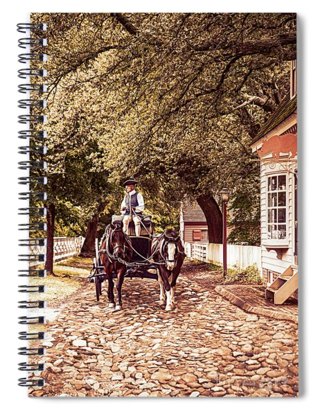 Horse Drawn Wagon Spiral Notebook
