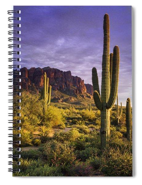In The Desert Golden Hour  Spiral Notebook