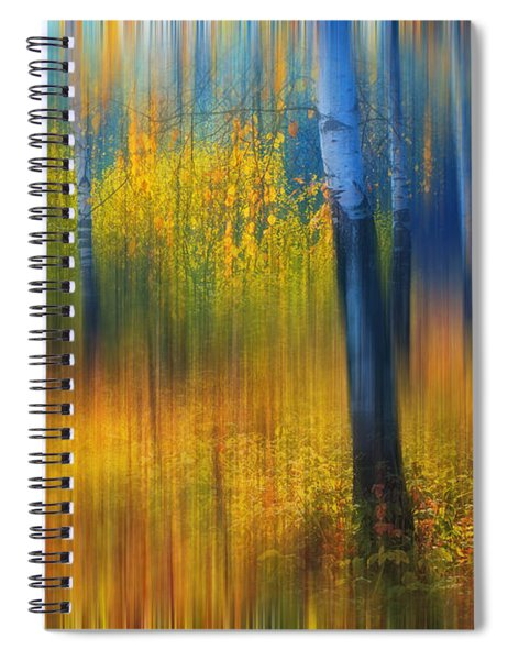 In The Golden Woods. Impressionism Spiral Notebook
