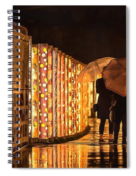 In The Kimono Forest Spiral Notebook