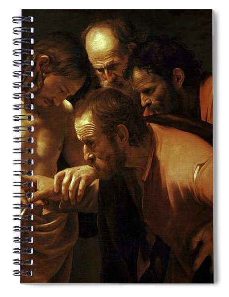 Incredulity Of Saint Thomas Spiral Notebook