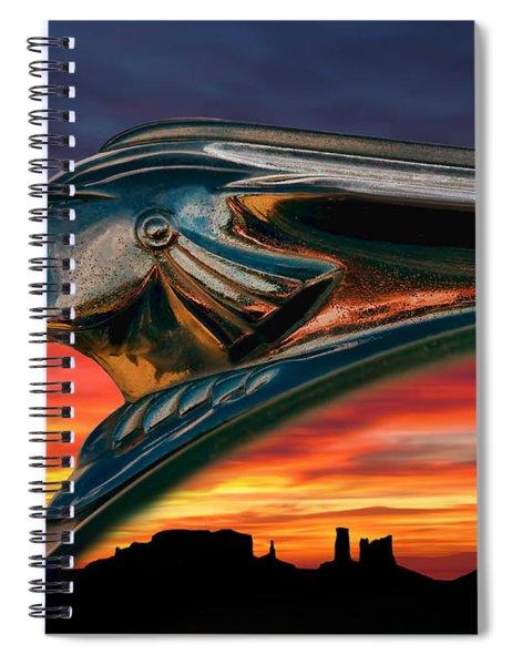 Indian Rainbow Spiral Notebook