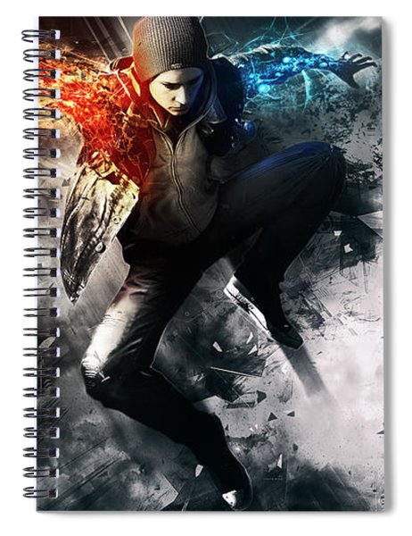 inFAMOUS Second Son Spiral Notebook