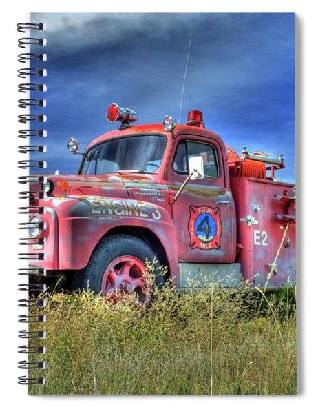 International Fire Truck 2 Spiral Notebook