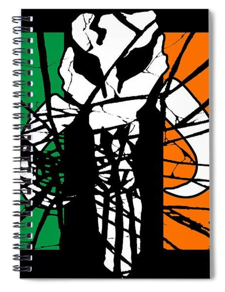 Irish Mandalorian Flag Spiral Notebook