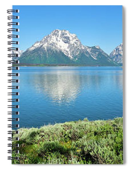 Jackson Lake Teton Panorama Spiral Notebook