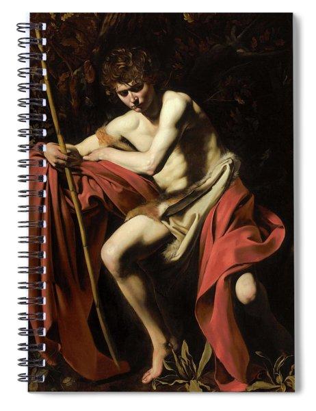 John In The Wilderness Spiral Notebook