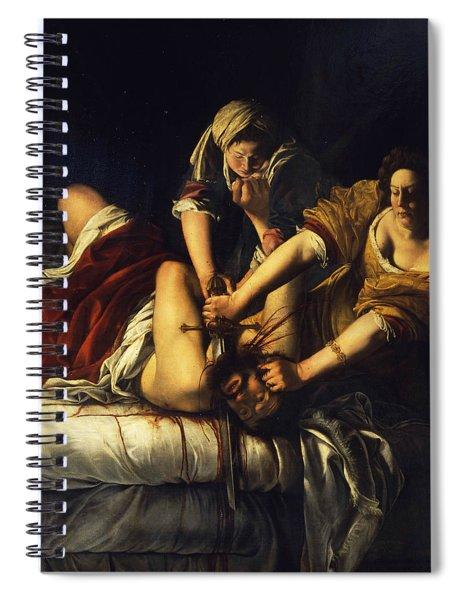 Judith Beheading Holofernes Spiral Notebook