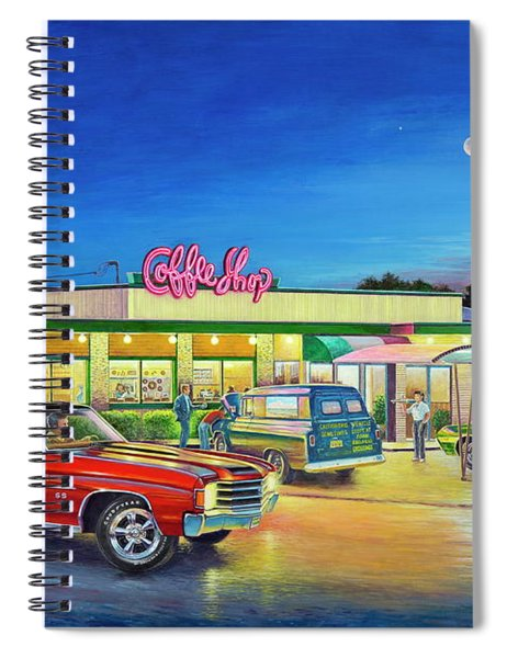 Muscle Car Cruise Night Spiral Notebook